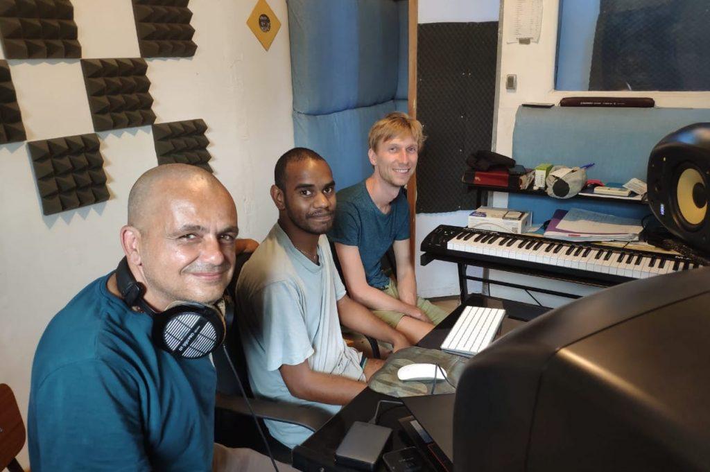 TI YAB ZEN au studio avec Jérémie ATCHAMA et Charles LEMOINE