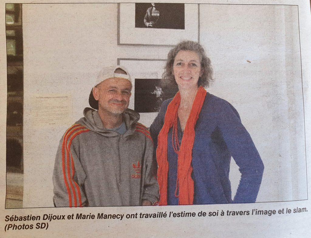 TI YAB ZEN et MARIE MANNECY AU CENTRE DE DETENTION DU PORT POUR UN ATELIER SLAM PHOTO