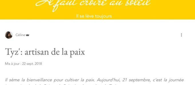 Interview de TI YAB ZEN pour CROIRE AU SOLEIL